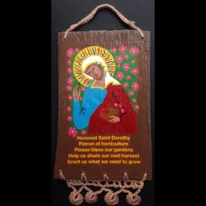 St. Dorothy (Patron of Horticulture) Retablos