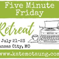 five minute friday :: slow {+ retreat registration now open!}
