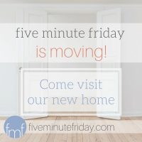 five minute friday :: visit {+ a HUGE announcement!}