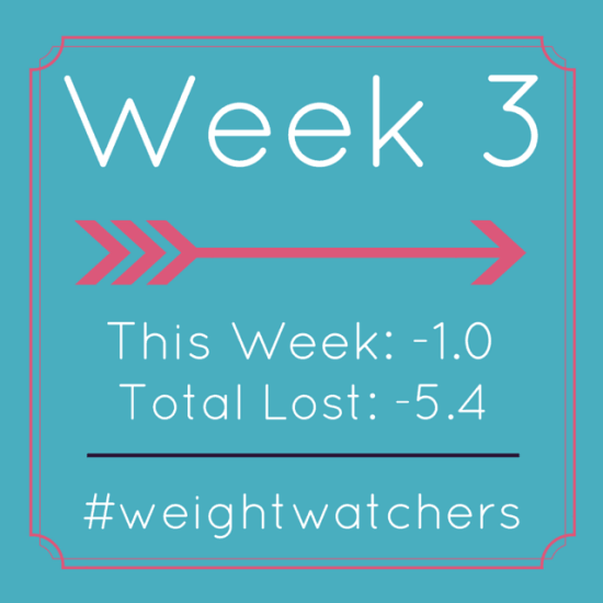 Weight Watchers Week 3