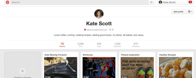 Support your fav blogger on Pinterest