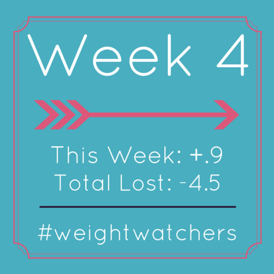Weight Watchers Week 4