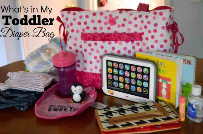 What's in my toddler diaper bag