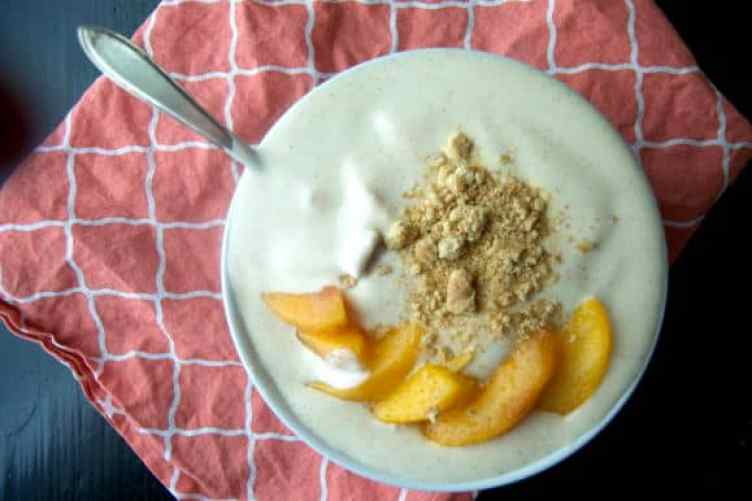 Peach Pie Smoothie Bowl for one