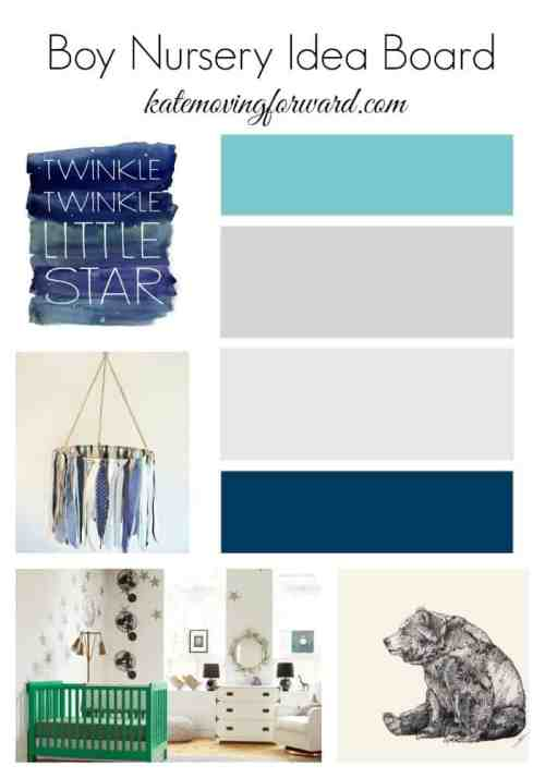 Boy Nursery design board