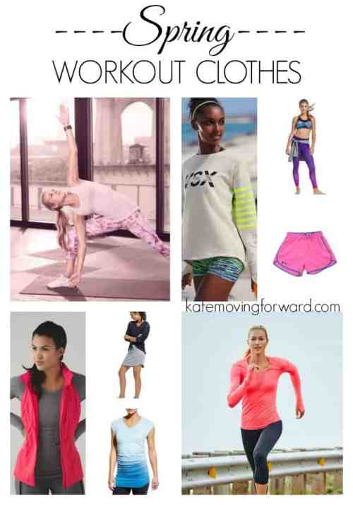 Spring Workout Clothes - Some super cute spring 2016 fitness clothes perfect for running, yoga, barre, and HIIT classes!