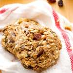 Cinnamon Walnut Raisin Breakfast Cookies