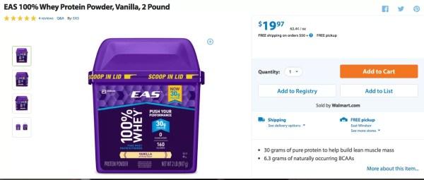 Order EAS at Walmart