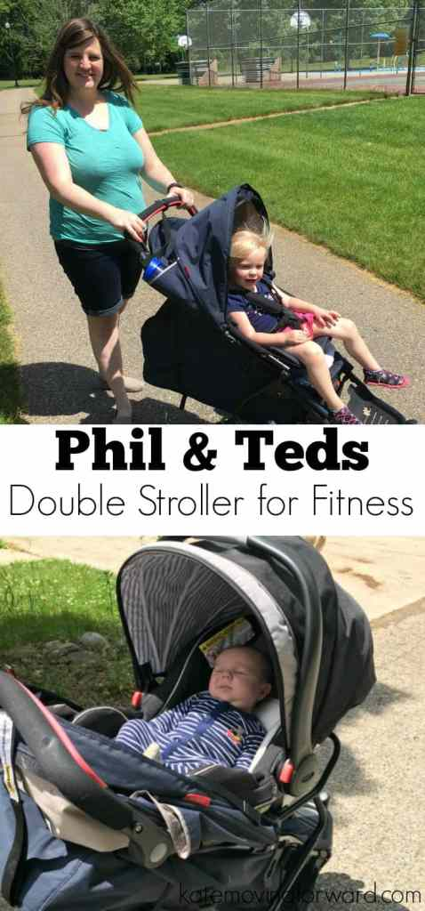 Phil & Teds Double Stroller for fitness postpartum. I'm using the many options of the Phil & Teds Sport stroller to get back to fitness with two kids. Perfect for busy moms who want to get moving!
