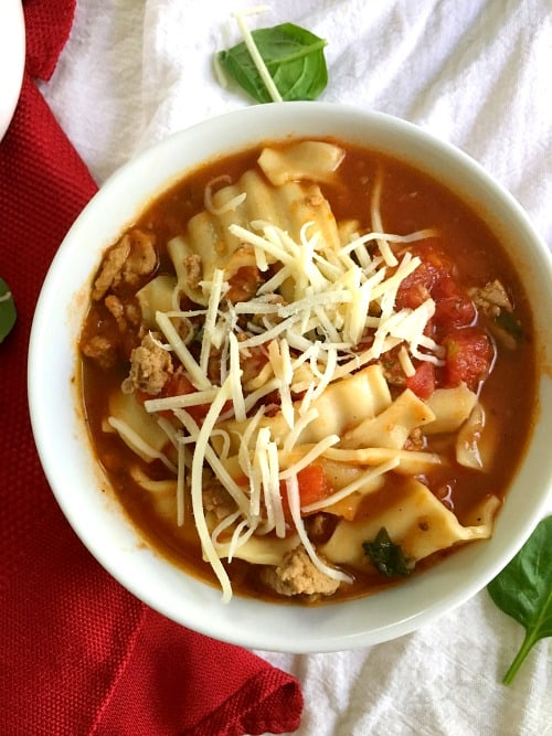Healthy Lasagna Soup