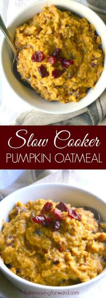 Slow Cooker Pumpkin Oatmeal