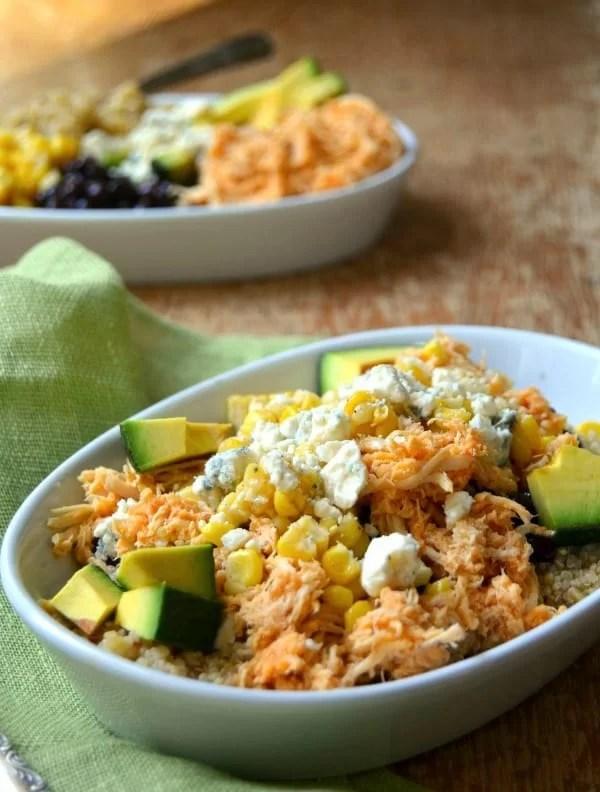 Buffalo Chicken Bowls - Delicious, healthy and so easy!