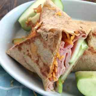 Ham, Cheddar, and Apple Grilled Wrap
