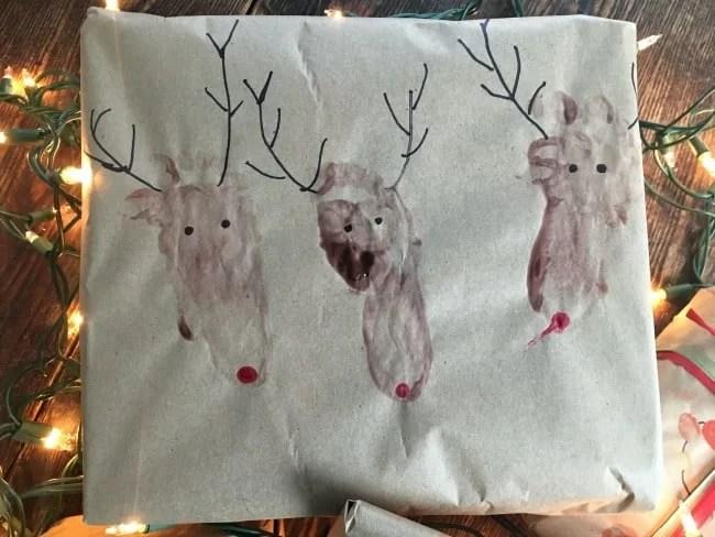 fingerpaint reindeer