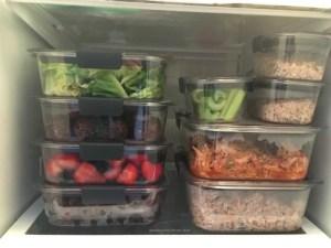 meal prep in fridge