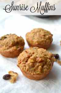 Sunrise Muffins - Healthy Muffins - Morning Glory Muffins - Carrot Cake Muffins - Muffin Recipes