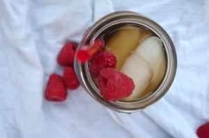 Raspberry Sun Tea