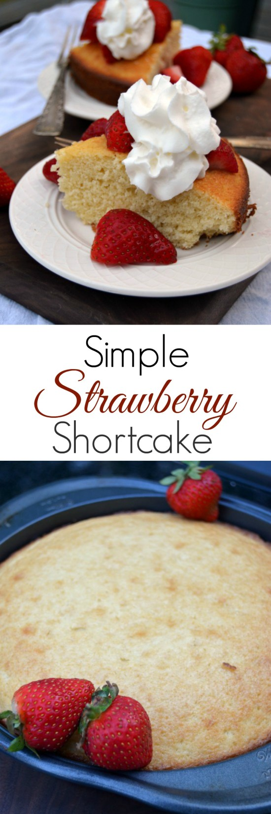 Simple Strawberry Shortcake pin