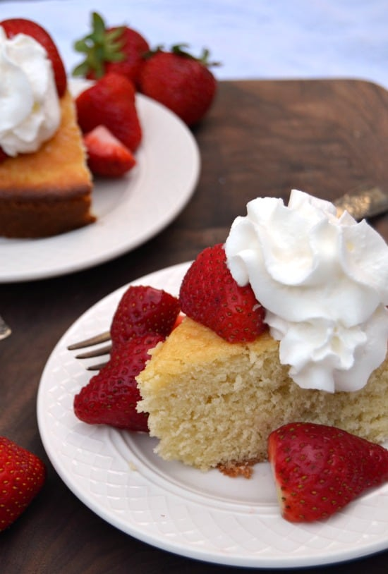 Strawberry Shortcake Butter Cake