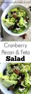 Cranberry Pecan and Feta Salad - This salad has just the right amount of sweet flavor from the cranberries, intensity from the feta cheese, and crunch from the pecans. I love the blending of flavors and textures in it!