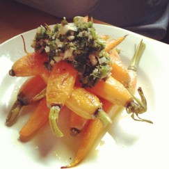 Roasted Carrots with Salsa Verde