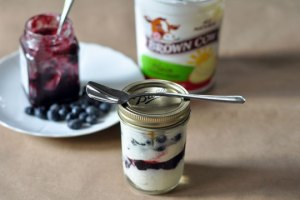 Make your own fruit on the bottom yogurt cups
