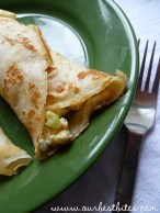 Mediterranean Feta Egg Scramble Breakfast Wrap