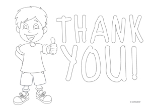 boy color in thank you note free download girl color in thank you note