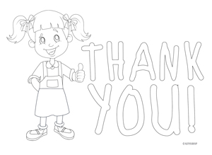thank you note colorin