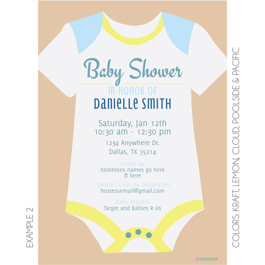 Onesie Baby Shower Invitation   KateOGroup