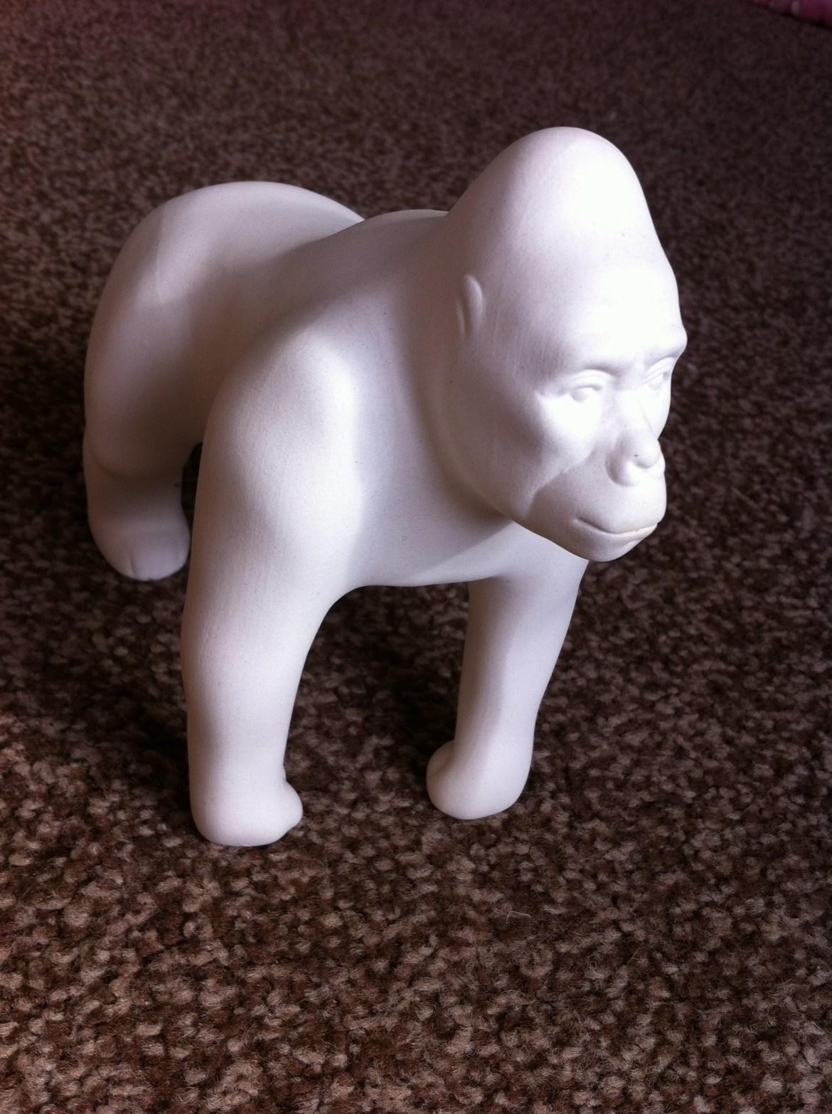 A white Go Go Gorilla