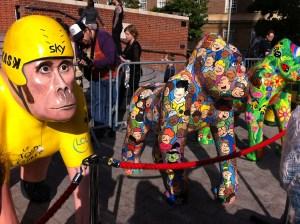 Go Go Gorillas Whoop! Whoop! Bradley Wiggins and Garden Gorilla - Norwich