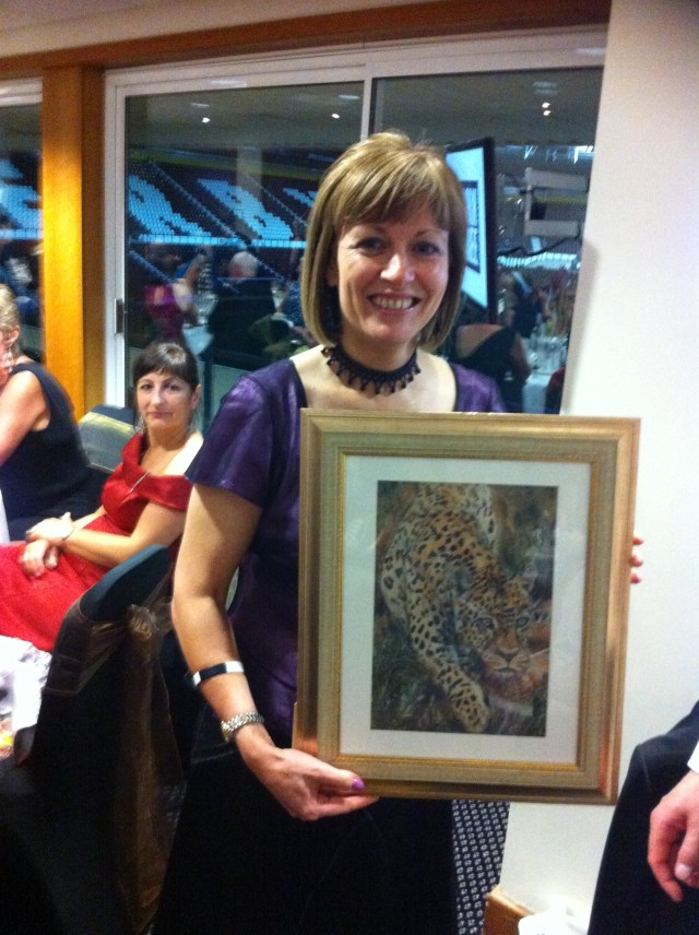 Kate on Conservation's donated artwork