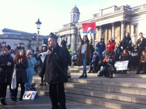 Dominic Dyer, dolphin march, London