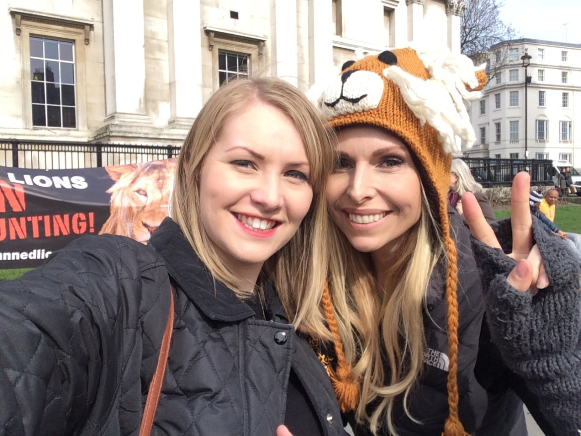 Kate on Conservation and Anneak Svenska at Global march for Lions