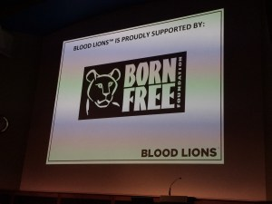 Born Free Foundation at Blood Lions