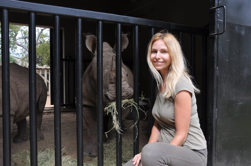 Balck Mambas' doc with Anneka Svenska. Feeding baby rhino