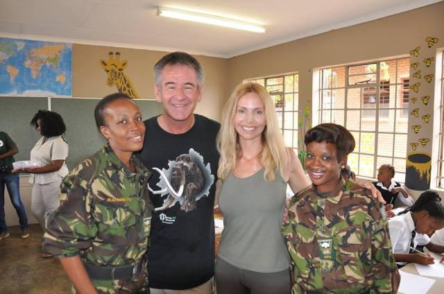 Nigel Marven and Anneka Svenska with two of The Mambas