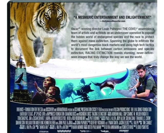 racing extinction dvd package back