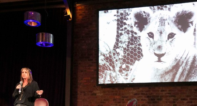 Drew Abrahamson speaking at event