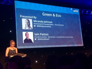 Kate on conservation at the UK blog awards 2016