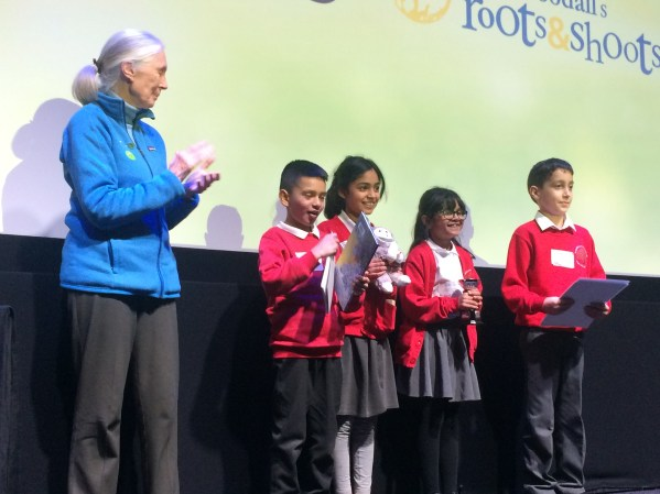 Roots and shoots award presentation humberstone junior academy