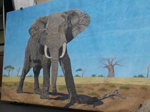 African bull elephant by Omra Sian