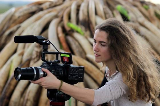 Tania Esteban film the 2016 Kenyan ivory burn