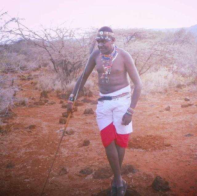 Philip Mayan Masaai warrior photo