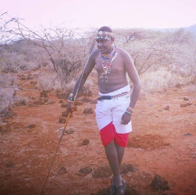 Philip Mayan Masaai warrior photo