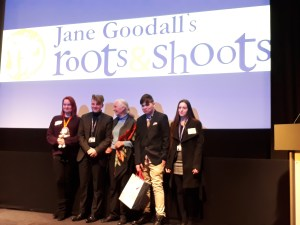 Roots and Shoots Awards 2018 winners with Jane Goodall