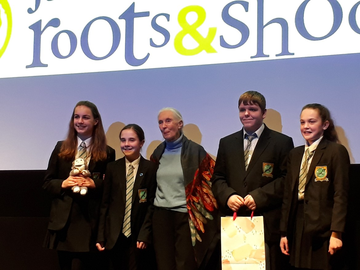 Jane Goodall's Roots and Shoots Awards 2018: inspiring eco-warriors