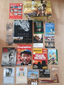 Big Cat Festival goody bag and book purchases