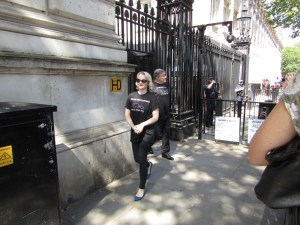 Evanna Lynch leaves downing street